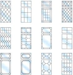 Clear Leaded Glass Patterns | Leaded windows are a superb way to add traditional charm to your home