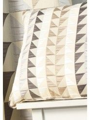 Coussin Triangles Beige - Art of Life, 43x43cm
