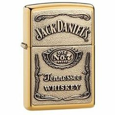 Zippo Manufacturing 254BJD.428 Brass JackDaniels Lighter by Zippo. $28.26. Refillable Zippo Brass Jack Daniels Lighter. This officially licensed Jack Daniel's Label lighter features a high polish brash finish with a dimensional full-face emblem. Like all Zippo lighters, the Jack Daniel's lighter offers a windproof design so that you are never without a flame. The all metal lighter is refillable and the wearable flints are easy to replace.