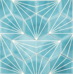 "lostinpattern: "" Azure Dandelion Tile from Marrakech Design """