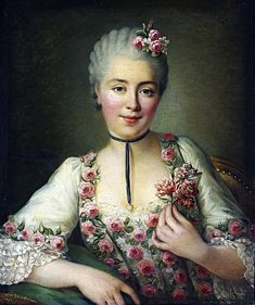 François-Hubert Drouais (1727-1775): Portrait of a Lady said to be Mademoiselle Dore. 1765