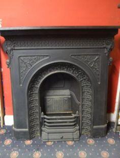 antique cast iron fireplace