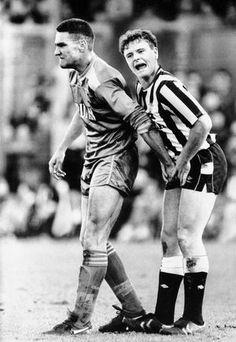 Vinnie Jones and Paul Gascoigne