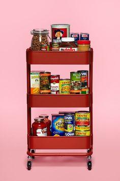 The IKEA RÅSKOG Cart as Pantry Organizer   Kitchn