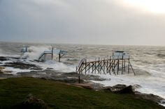 Spectacle fantastique #saintpalaissurmer #royan #storm #charentemaritime #tempete #mer #ocean #sea #carrelet  #sky