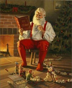 """SANTA READINE ELF TALES, TO HIS ELVES"" <3"