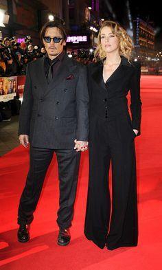 Johnny Depp and Amber Heard get goofy at 'Mortdecai' premiere