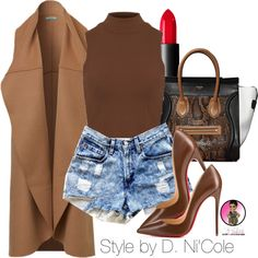 Untitled #2539 by stylebydnicole on Polyvore featuring polyvore fashion style Levi's Christian Louboutin NARS Cosmetics CÉLINE