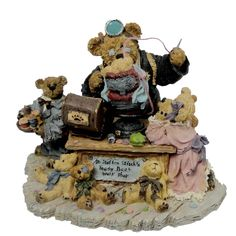 Amazon.com - Boyds Bears Limited Edition Dr. Stuffenstitch with Helpers Good As New #227820 - Collectible Figurines+