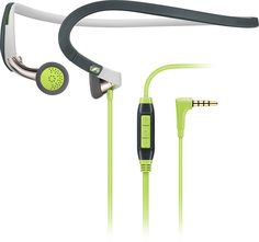 Sennheiser - Sport Earbud Neckband Headphones - Green/White/Gray