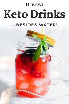 Refreshing keto drink recipes for the summer. Keto Diet Drinks, Keto Cocktails, Low Carb Drinks, Keto Drink, Healthy Drinks, Healthy Food, Nutrition Drinks, Healthy Nutrition, Eating Healthy