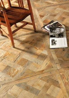 Victorian Woodworks' parquet panels allow for a quicker installation since each panel is almost a metre square.