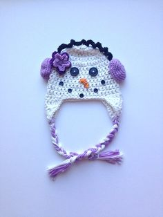 snowman hat for girls or boy Christmas hat by BabycakesDesigns4u, $27.00