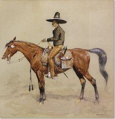 - Mexican Haciendero  by Frederic Remington