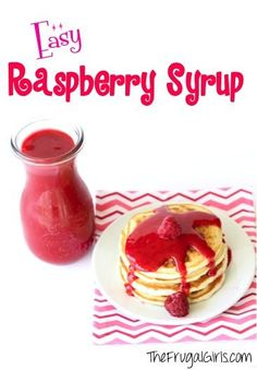 Easy Raspberry Syrup Recipe - from TheFrugalGirls.com ~ this syrup made in the blender with fresh raspberries is SO delicious and the perfect topping for your pancakes or ice cream! #recipes #thefrugalgirls