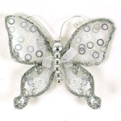 """Glitter Sequin Artificial Butterflies  3.5"""" (pack of 1 piece)"""