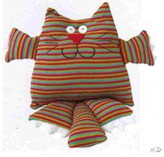 gato muñeco de tela