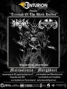 Cresta Metálica Producciones » Malevolencia y Morghduet lanzaran Split a través del sello Centurion Productions
