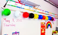 """LOVE this idea! Begin the countdown to the last days of school when there are only 10 days left... print out the """"activities"""" sheets, then cut and insert each little slip of paper into a balloon and inflate them.  Lastly, number them 10-1 and put them up in the classroom.  Let the countdown and fun to the end of school commence!"""