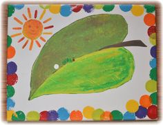 The Very Hungry Caterpillar painting (Kid's bathroom decor- waste basket, soap pump, toothbrush holder)
