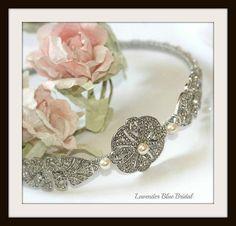 Side tiara Vintage style rhinestone and by LavenderBlueBridal, £72.00