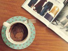 Mensagem de Isa: Cinnamon Nutella Mug Cake - Delícias de Caneca