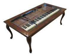 Another use of the keyboard from our a Piano Bar. Piano Coffee Table.