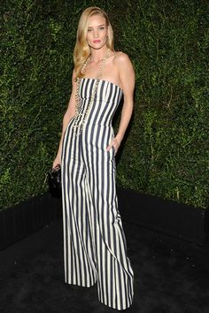 Rosie Huntington-Whiteley in a Fabulous Chanel - OMG!  Oscars Parties 2013 - Red Carpet Photos from Oscar 2013 Parties - Harper's BAZAAR