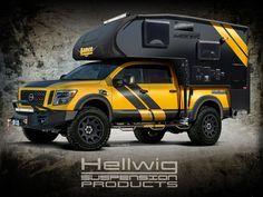 #SEMA2016 truck camper rig, http://www.truckcampermagazine.com/news/rule-breaker-hellwig-lance-rig-sema-2016/