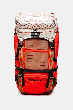 Camping season essential. Not sure how I feel about the performance of an Urban Outfitters backpack, but since it's made in Utah, maybe legit. Chums Sinawava 45 Backpack