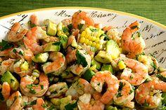 Shrimp Salad with Lime Vinaigrette | Sauce and Sensibility - #HEALTHYRECIPE #healthy #lowfat #lowcalorie #diet #cookinglight #MyBSisBoss