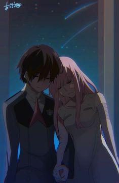 Hiro and Zero Two Me Me Me Anime, Anime Love, Otaku Anime, Manga Anime, Querida No Franxx, Koro Sensei, Nagisa Shiota, Anime Lindo, Zero Two