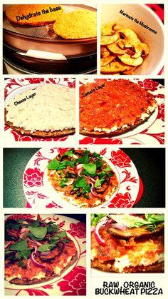 raw food buckwheat crust pizza