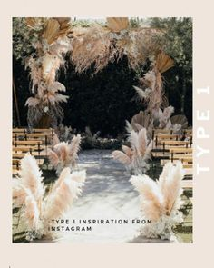 Nikia aka Mad Maven Style used wonderfully Boho coloured pampas grass for her wedding ceremony at The Ruby Street in Los Angeles, California. wedding aisle Mad Maven Style's Marie Antoinette Meets Southwestern-Inspired Wedding — Part 1 Wedding Trends, Wedding Styles, Wedding Ideas, Wedding Backdrops, Wedding Venues, Diy Wedding, Decor Wedding, Trendy Wedding, Wedding Hacks