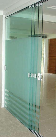 Vidros temperados: Porta Camarão, Porta Stanley, Pergolados, Spyder, Divisor ambientes... :: Soluções em Vidros