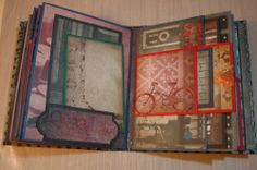 All Occasions (Kathy Orta) mini album I made as a gift using the Tattered Time paper stack by Die Cuts With a View (DCWV)