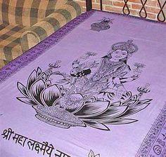 Goddess Laxmi Lakshmi Hindu Purple India Indian Spiritual Divine Hippie Boho Bohemian Tapestry Wall Hanging Bedding Bedspread Throw  http://4rissa.storenvy.com/collections/652117-tapestries-bedding/products/6593206-goddess-laxmi-lakshmi-hindu-purple-india-indian-tapestry-wall-hanging-bedspr