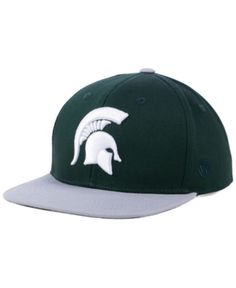 low priced 40aab 7ece7 Top of the World Boys  Michigan State Spartans Maverick Snapback Cap -  Green Adjustable Michigan