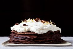 Chocolate Mousse Crepe Cake / food52