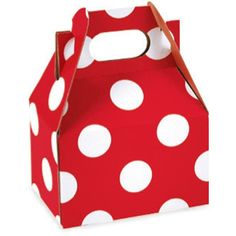mini polka dot gable treat boxes: 10 for $8 at Polka Dot Market