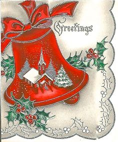 Festive holiday greetings! #vintage #Christmas #cards #vintagegreetingcards