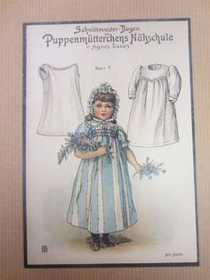 Vintage German Paper Doll Note Cards with Doll Clothes PatternsThis auction is for an unusual and beautiful group of 8 note cards with different antique paper dolls on each card. Doll Sewing Patterns, Doll Clothes Patterns, Vintage Sewing Patterns, Clothing Patterns, Toy Theatre, Baby Doll Clothes, Old Postcards, Vintage Dolls, Vintage Advertisements