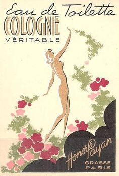 art deco perfume label