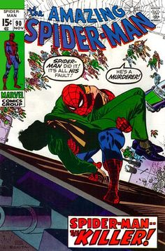 "The Amazing Spider-Man #90 ""spider-man ... the KILLER!"""