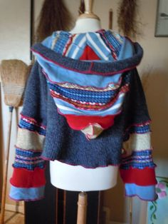 Upcycled clothes sweater hoodie Katwiseinspired by RecycledGrace, $92.00