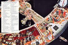 Stanford Torus Space Station by NASA.  Cutaway View of Interior.  #SpaceStations  #StanfordTorus  #NASA