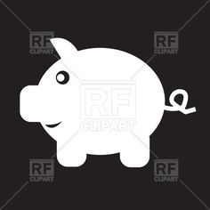 Cartoon pig or piglet - piggy bank icon, 190714, download royalty-free vector clipart (EPS)