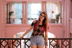 Meninices da Vida: Look: T-shirt, Short cintura alta e Birken