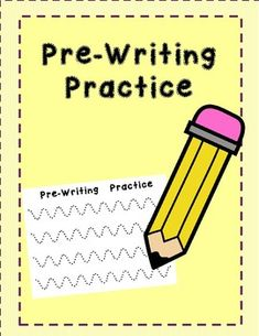 Students will practice their fine motor skill with this prewriting practice sheets. A total of 20 pages. Pre Writing Practice, Tracing Letters, Fine Motor Skills, Students, Education, Drawing Letters, Motor Skills, Learning, Teaching