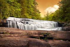 """""""Fabled Falls - Blue Ridge Mountains Waterfalls"""" by Dave Allen, Hendersonville, NC // Imagekind.com – Buy stunning, museum-quality fine art prints, framed prints, and canvas prints directly from independent working artists and photographers."""